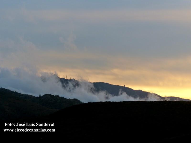 Fotos del atardecer del temporal en Canarias 19 noviembre
