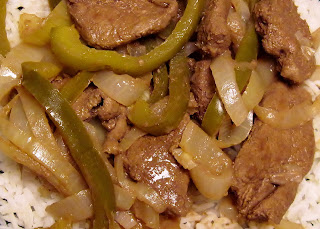 Liver with pepper & onions