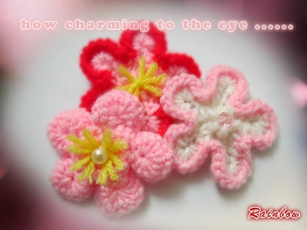 Rainbows Crafts And Creations Knitted Flower Patterns
