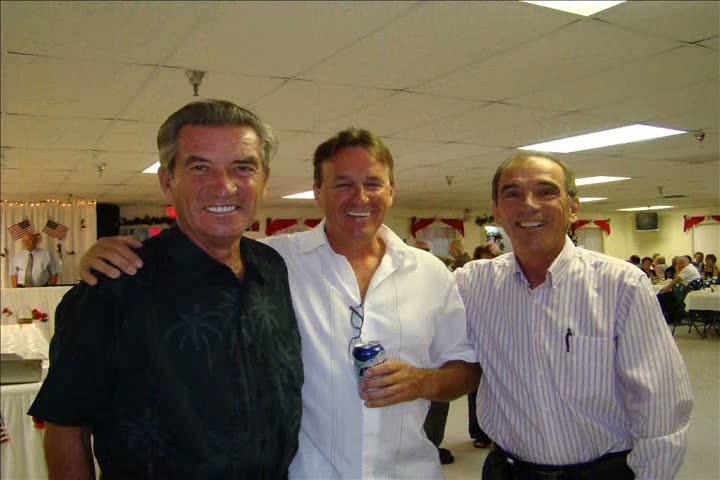 Sergio avec les frères Larose, Fernand et le beau Gilles