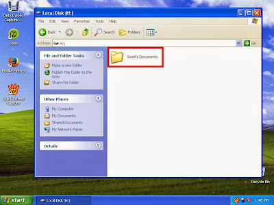 Learn how to hide files and folders in windowsXP step5