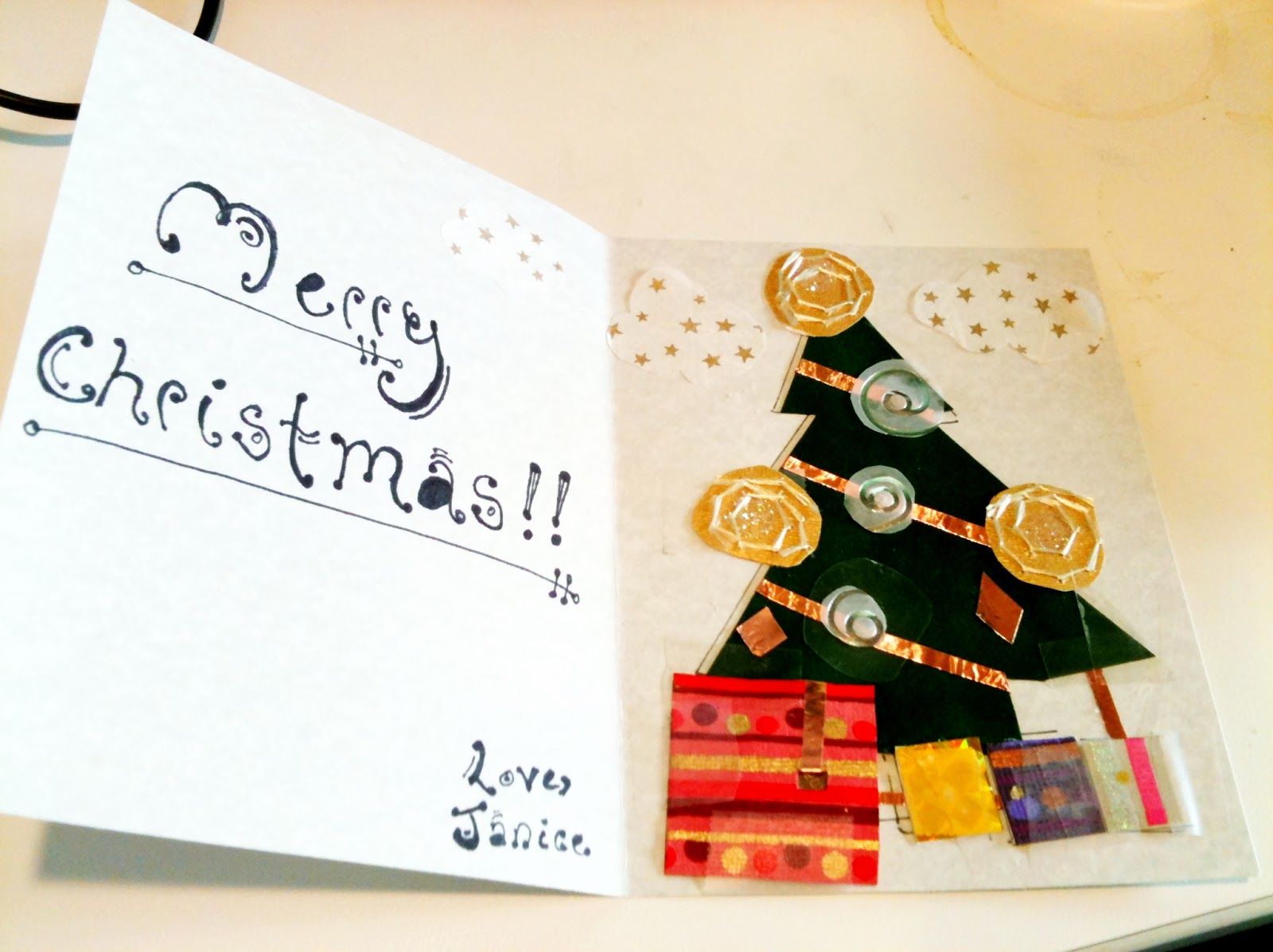 Homemade Christmas Card | The Right-Brained Engineer