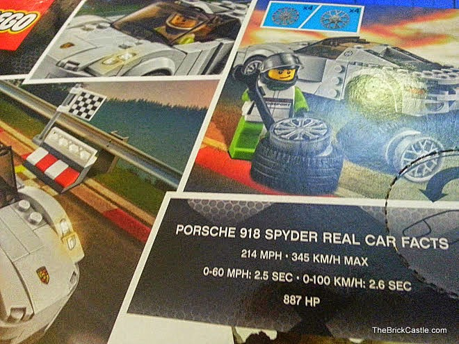 LEGO Speed Champions Porsche 918 Spyder box rear