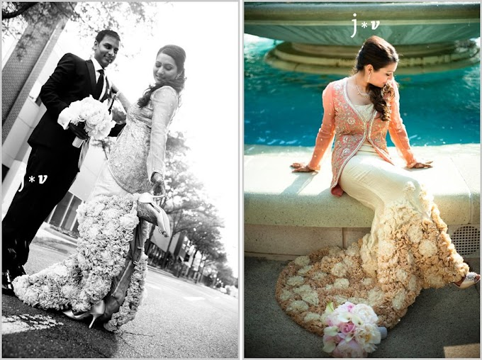 Shyamal & Bhumika Fusion Style- Civil Wedding Look