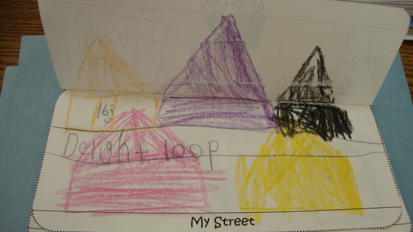 after we all made our own streets we started to talk about our city we looked at some google maps of our town and found important places like our school