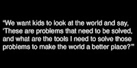 Quote about children having skills for the world outside of school