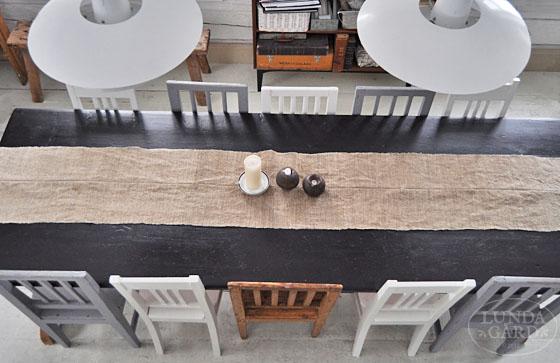 Gamla Koksstolar : Blandningen av stolarna runt matbordet fungerar rott so bra so nu