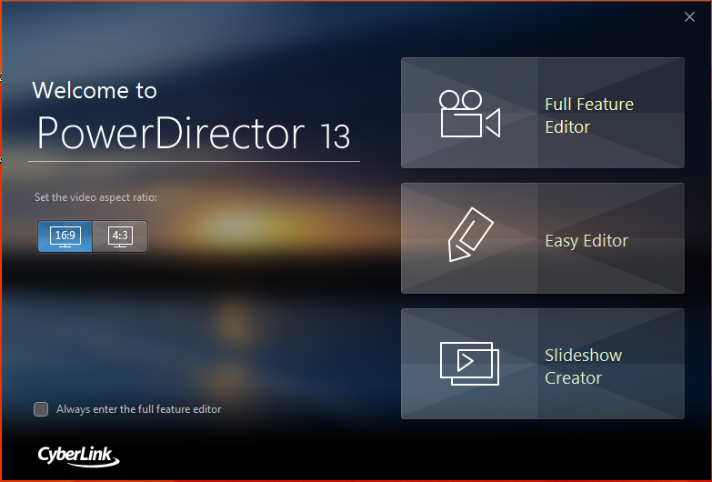 Best Video Editing Software, CyberLink PowerDirector 13