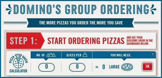 Domino's group ordering tool