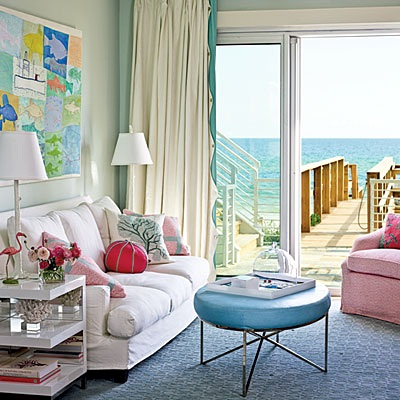 bright coastal living room