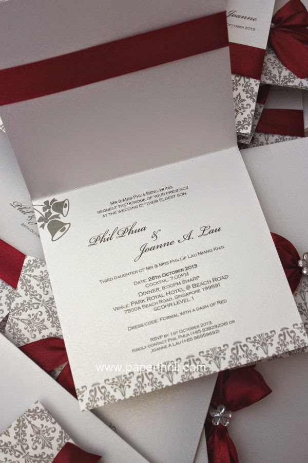 White Christmas Invitations