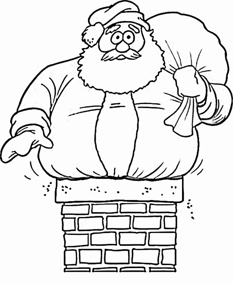 coloring pages with santa - photo#8