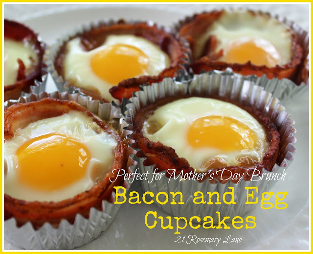 21 Rosemary Lane: Bacon and Egg Cupcakes