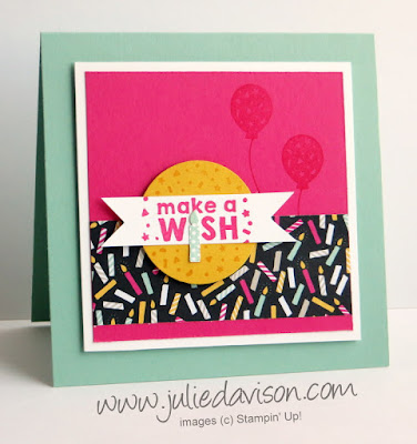 Stapin' Up! Party Wishes Make a Wish Birthday Card #stampinup www.juliedavison.com