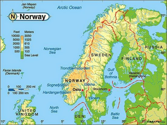 Traveling to Norway Norway geography