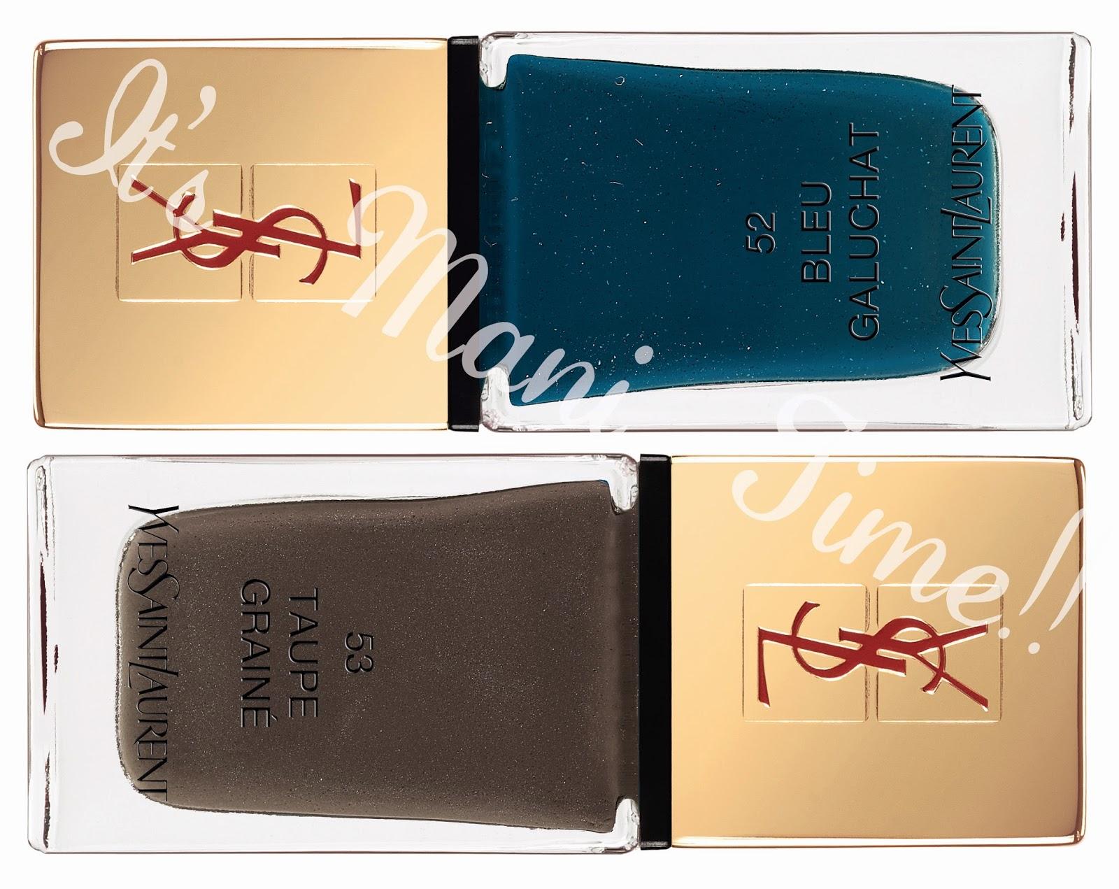 La Laque Couture Les Graines, La Laque Couture Les Graines 52, La Laque Couture Les Graines 53, Yves Saint Laurent, ysl cuirs fétiches