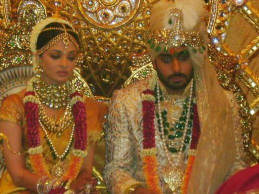 Celebrity Weddings Aishwarya Rai Wedding Pics