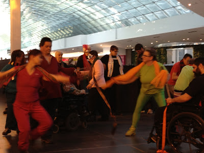 Dancers inside Devonian Gardens for International Day of Disabled Persons