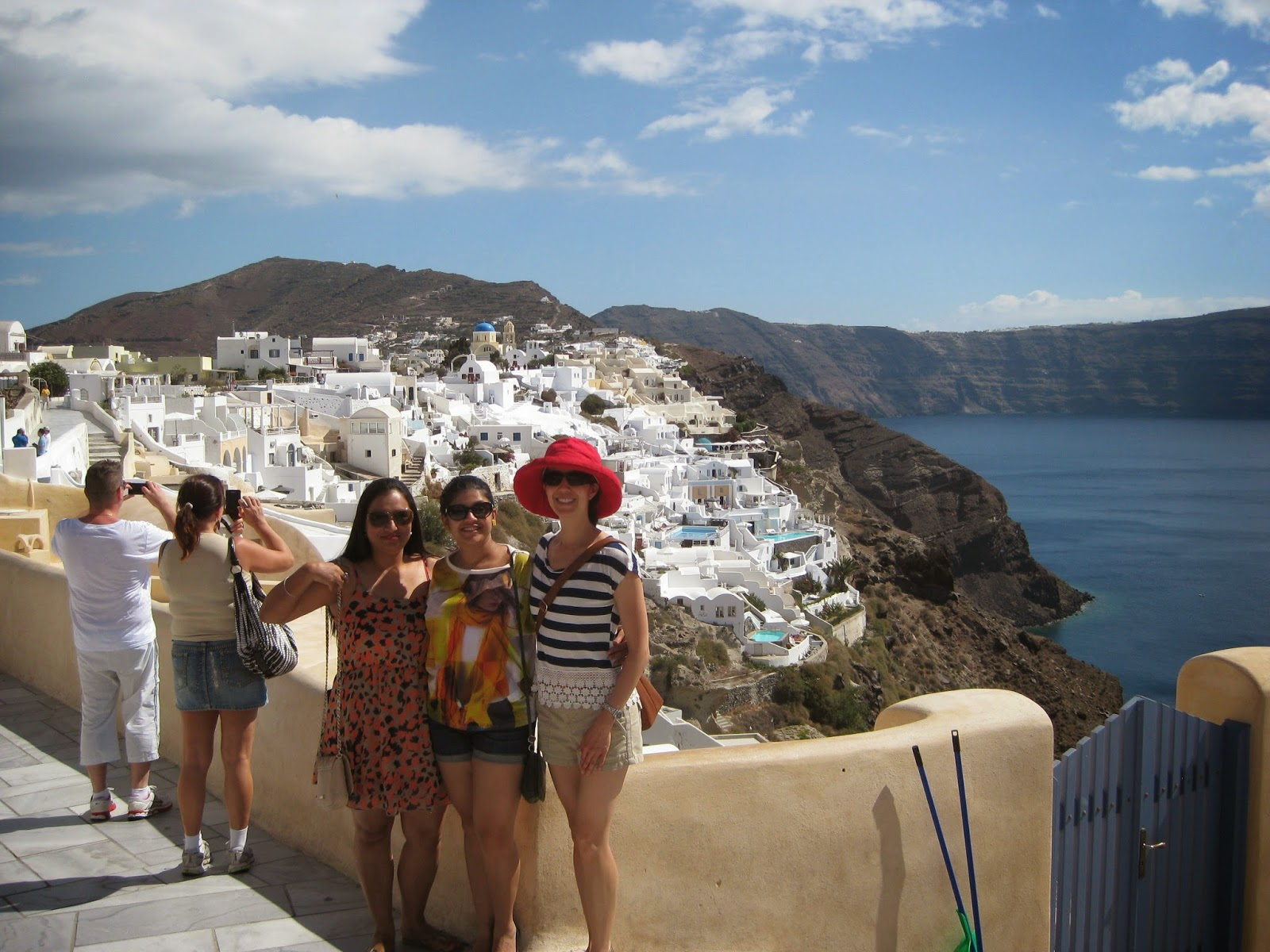 Santorini - We met up with Trisha & Abhi's friends Ratan & Roop