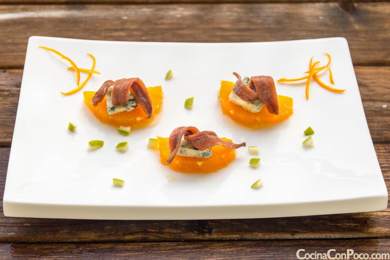 Recetas de Navidad - Anchoas con mandarinas - Entrante