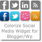Colorize Social Media widget for Blogger/Wordpress