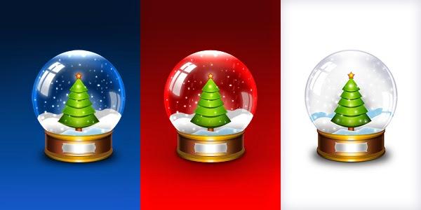 Christmas Snow Globe Icon PSD