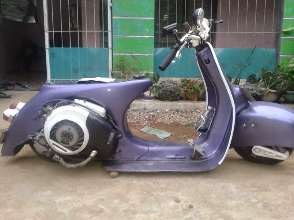 Modifikasi Motor vespa ceper abis