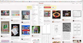 A screenshot of the website, Pinterest, showing the Education section. border=