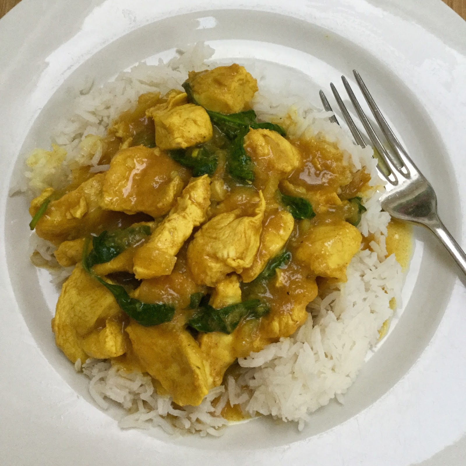 Good food and red shoes: Slimming world chicken curry