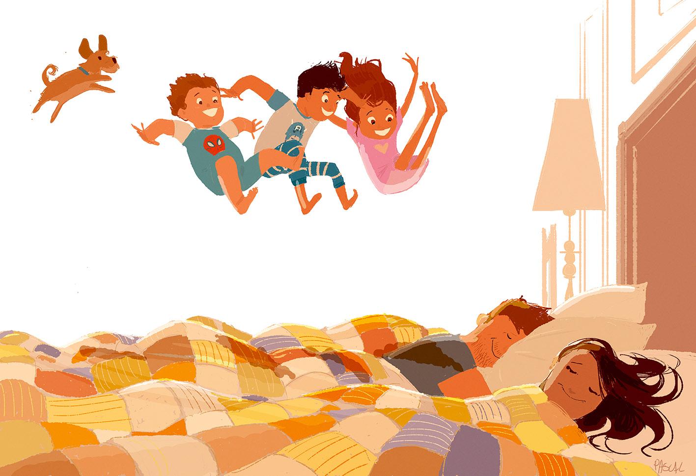 Resultat d'imatges de illustrations good morning