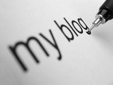 immagine con scritta: My Blog