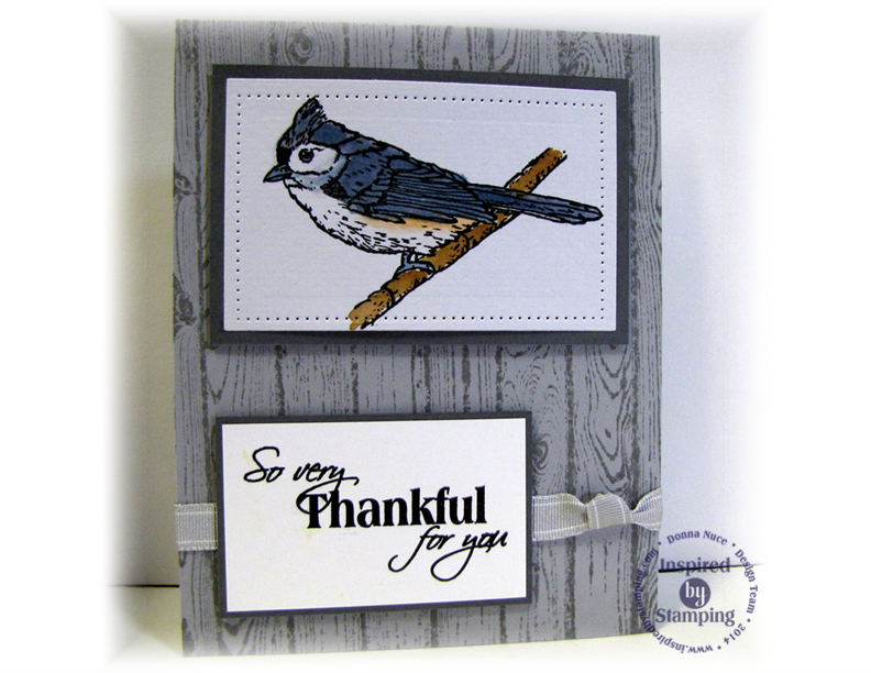 Inspired by Stamping, Crafty Colonel, Winter Birds, Thank You Card