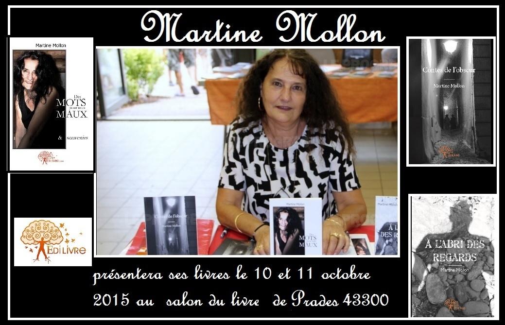 MARTINE MOLLON  sera au SALON DU LIVRE DE PRADES 2015