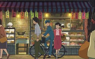 Umi und Shun vorm Fischverkäufer