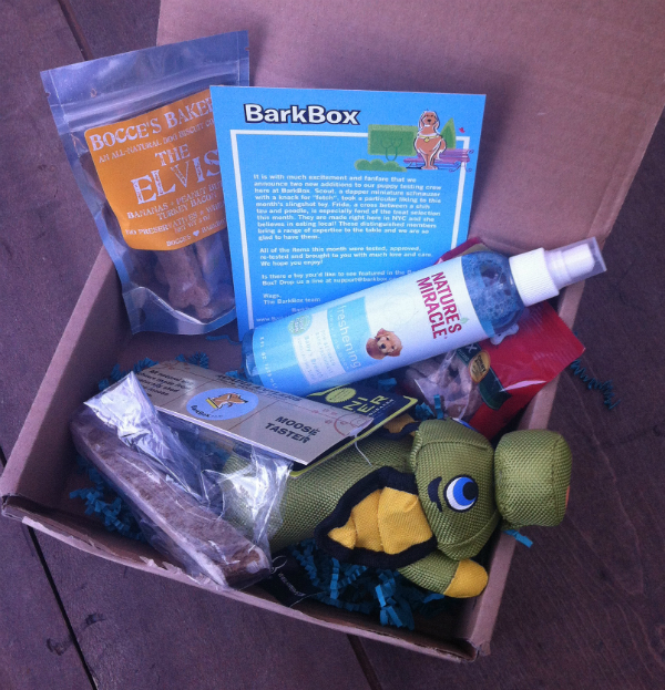 BarkBox August 2012 Review - Dog Monthly Subscription Boxes