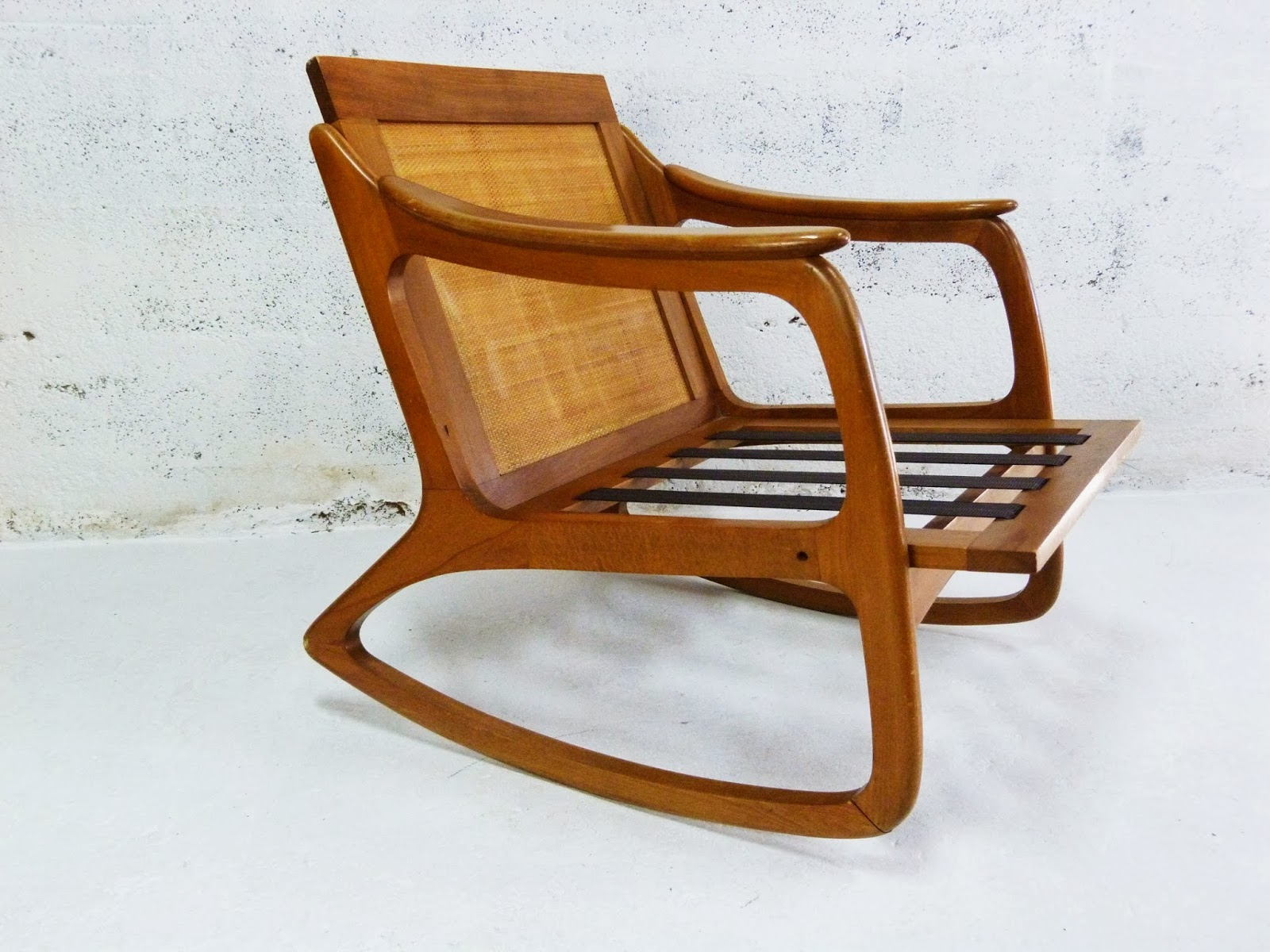 Price reduced sturdy wooden vintage rocking chair made in yugoslavia - Here Is Another Vintage Rocking Chair