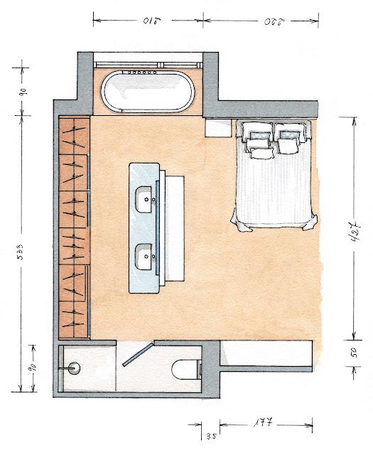 Baños Con Vestidor Planos:Cómo distribuirías tu espacio de vestidor?