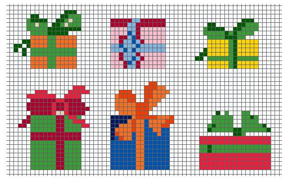 Схема для вышивания подарок