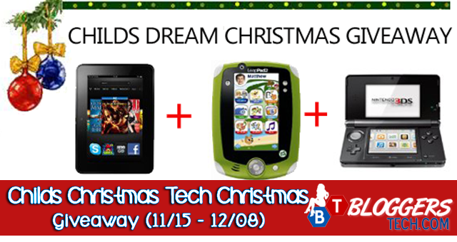 Childs Christmas Tech Christmas Giveaway