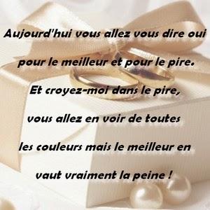 la - Texte Felicitations Mariage