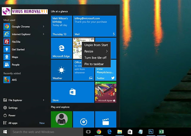 Customizing the Start Menu in Windows 10