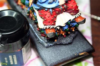 Pintura base de las botas de Grasientus Dientetoro con Vermin Brown