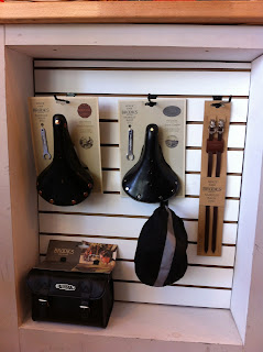 Brooks gear at Reser Bicycle Outfitters OTR