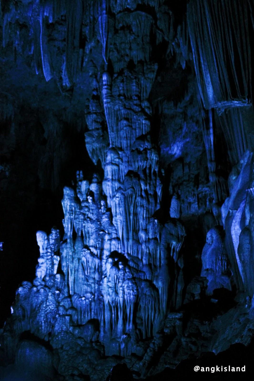 blue stalagtit