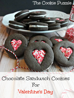The Cookie Puzzle: Chocolate Sandwich Cookies for Valentine's Day