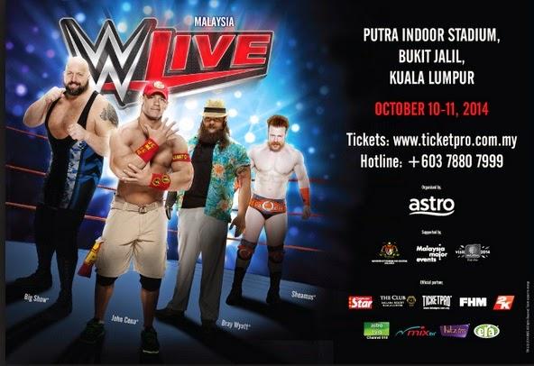 Bintang Sukan WWE Separuh Bogel Dunia Dah Sampai Malaysia