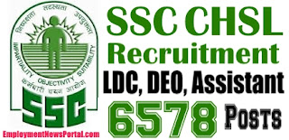 SSC CHSL Recruitment 2015, Staff Selection Commission jobs,