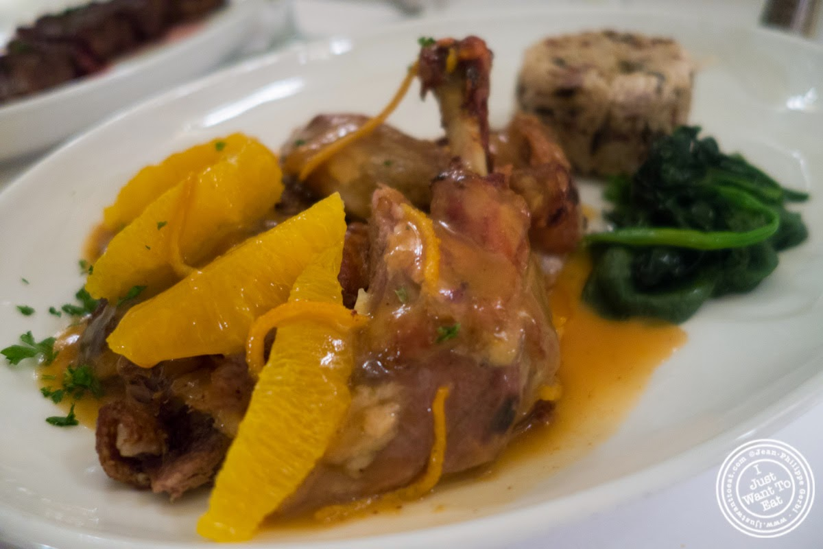 image of canard a l'orange at Sel et Poivre on the Upper East Side, NYC, New York