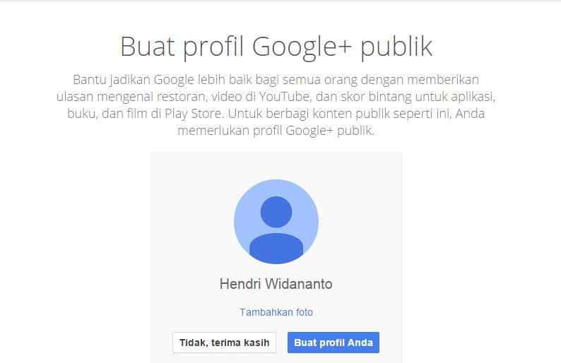 Cara Membuat Email di Gmail, tawaran Google+