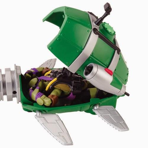 TOYS : JUGUETES - TORTUGAS NINJA  Submarino y Donatello | Turtles Sub Underwater Stealth Shell  Producto Oficial | Playmates Toys | Giochi Preziosi 94007   A partir de 4 años
